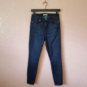 Good American Good Waist Dark Wash Skinny Jeans